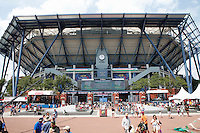 A general view of the arthur Ashe stadium in Flushing Meadows the venue for the 2015 U.S. Open tennis tournament during the kids day New York City  08/29/2015. Kena Betancur/VIEWpress