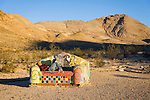 Funky couch in Rhyolite, NV ghost town part of the Goldwell Open Air museum