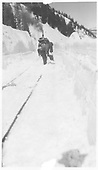 RGS rotary #2 with men hand shoveling deep snow.<br /> RGS