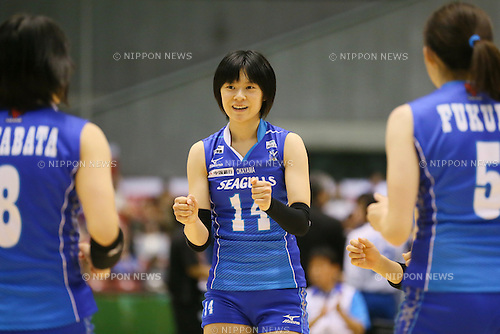 Haruka Miyashita (Seagulls), <br /> DECEMBER 13, 2013 - Volleyball : <br /> 2013 Emperor's Cup and Empress's Cup <br /> All Japan Volleyball Championship women's match <br /> between Okayama Seagulls 3-0 JT Marvelous <br /> at Tokyo Metropolitan Gymnasium, Tokyo, Japan. <br /> (Photo by YUTAKA/AFLO SPORT)