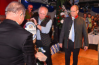 """--- NO TABLOIDS, NO WEB SITE --- Le Prince Albert II de Monaco participe ‡ la soirÈe d'ouverture de la 11Ëme Èdition de l'Oktoberfest au CafÈ de Paris le 14 octobre 2016. La SociÈtÈ des Bains de Mer cÈlËbre """"Oktoberfest"""" selon la pure tradition bavaroise, en partenariat avec la brasserie Weihenstephan, biËre munichoise. Les dinners se dÈroulent sous le chapiteau installÈ et†dÈcorÈ pour loccasion du 14 au 23 octobre 2016."""