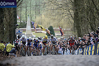 A decisive split is made up the 2nd ascent of the  Kemmelberg, as Peter Sagan (SVK/Tinkoff) pulls forward taking Fabian Cancellara (SUI/TREK-Segafredo) &amp; Sep Vanmarcke (BEL/LottoNL-Jumbo) with him.<br /> <br /> 78th Gent - Wevelgem in Flanders Fields (1.UWT)