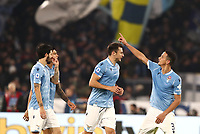 Football, Serie A: S.S. Lazio - Juventus Olympic stadium, Rome, December 7, 2019. <br /> Lazio's Luis Felipe (r) celebrates after scoring with his teammates during the Italian Serie A football match between S.S. Lazio and Juventus at Rome's Olympic stadium, Rome on December 7, 2019.<br /> UPDATE IMAGES PRESS/Isabella Bonotto