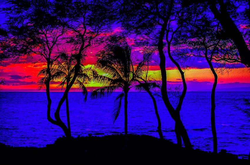 Sunset, Malu'aka Beach, Makena, Maui, Hawaii
