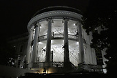 The South Portico of the White House is covered in decorations for Halloween, October 28, 2017 in Washington, DC. <br /> Credit: Olivier Douliery / Pool via CNP