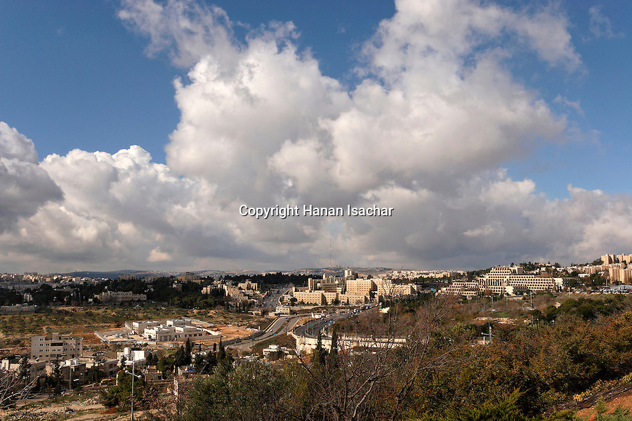 Israel, Jerusalem, A view west of Mount Scopus<br />