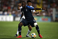 Football: Uefa under 21 Championship 2019, England - France, Dino Manuzzi stadium Cesena Italy on June18, 2019.<br /> France's Jonathan Ikoné (front) in action with England's Jay DaSilva (behind) during the Uefa under 21 Championship 2019 football match between England and France at Dino Manuzzi stadium in Cesena, Italy on June18, 2019.<br /> UPDATE IMAGES PRESS/Isabella Bonotto