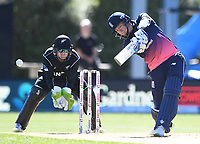 Jonny Bairstow batting.<br /> New Zealand Black Caps v England, ODI series, University Oval in Dunedin, New Zealand. Wednesday 7 March 2018. &copy; Copyright Photo: Andrew Cornaga / www.Photosport.nz