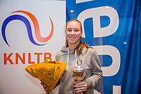 Hilversum, Netherlands, December 3, 2017, Winter Youth Circuit Masters, 12,14,and 16 years, winner girls 14 years  Anouk Koevermans<br /> Photo: Tennisimages/Henk Koster