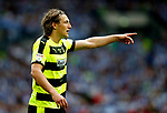 Michael Hefele of Huddersfield Town points during the SkyBet Championship Play Off Final match at the Wembley Stadium, England. Picture date: May 29th, 2017.Picture credit should read: Matt McNulty/Sportimage