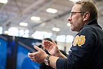 UNIVERSITY PARK, PA - MARCH 25: Notre Dame University coach applauds for Axel Kiefer of Notre Dame University in the foil competition during the Division I Men's Fencing Championship held at the Multi-Sport Facility on the Penn State University campus on March 25, 2018 in University Park, Pennsylvania. (Photo by Doug Stroud/NCAA Photos via Getty Images)
