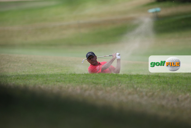 Jeev Milkha Singh (IND) finds the fairway bunker on the 8th during Round Two of the Africa Open 2015 at the East London Golf Club, East London, Eastern Cape, South Africa. Picture:  David Lloyd / www.golffile.ie. 06/03/2015