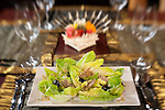 A fresh vegan Caesar's salad sprouts up alongside Balinese offereings at the Sakti Dining Room.