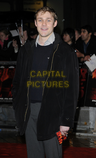THOMAS HOWES.Attending the UK Film Premiere of 'Red' at the Royal Festival Hall, London, England, UK..October 19th 2010.half length blue navy jumper sweater black jacket coat.CAP/CAN.©Can Nguyen/Capital Pictures.