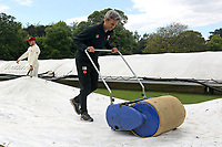 Mopping up continues during Brentwood CC vs Wanstead and Snaresbrook CC (batting), Shepherd Neame Essex League Cricket at The Old County Ground on 11th May 2019
