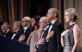 United States President Barack Obama attends the White House Correspondents' Association annual dinner on April 30, 2016 at the Washington Hilton hotel in Washington.This is President Obama's eighth and final White House Correspondents' Association dinner.<br /> Credit: Olivier Douliery / Pool via CNP