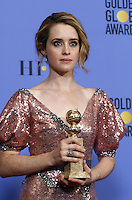 www.acepixs.com<br /> <br /> January 8 2017, LA<br /> <br /> Claire Foy appeared in the press room during the 74th Annual Golden Globe Awards at The Beverly Hilton Hotel on January 8, 2017 in Beverly Hills, California.<br /> <br /> By Line: Famous/ACE Pictures<br /> <br /> <br /> ACE Pictures Inc<br /> Tel: 6467670430<br /> Email: info@acepixs.com<br /> www.acepixs.com