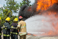 63818-02510 Firefighters at oilfield tank training, Marion Co., IL