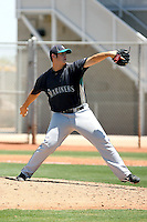 Ben Versnik #62 of the Seattle Mariners plays in an extended spring training game against the Cleveland Indians at the Indians minor league complex on May 14, 2011  in Goodyear, Arizona. .Photo by:  Bill Mitchell/Four Seam Images.