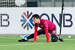 Shanghai FC Goalkeeper Sun Le on his warming up session for the AFC Champions League 2017 Round of 16 match between Jiangsu FC (CHN) vs Shanghai SIPG FC (CHN) at the Nanjing Olympic Stadium on 31 May 2017 in Nanjing, China. Photo by Marcio Rodrigo Machado / Power Sport Images