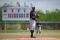 Chicago White Sox pitcher Andre Wheeler (47) prepares to deliver a pitch to the plate during an Instructional League game against the San Diego Padres on September 26, 2017 at Camelback Ranch in Glendale, Arizona. (Zachary Lucy/Four Seam Images)