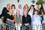 Edmond and Patricia Barry Ballyheigue who celebrated their 25th wedding anniversary in The oyster Tavern,The Spa,Tralee on Tuesday evening with family. Front l-r: Tina O'Sullivan, patricia,Edmond and Deborah Barry. Back l-r: Nicola and Clarrissa O'Sullivan,PJ Galvin,Eva Barry,Mane Dee and Deborah Barry.