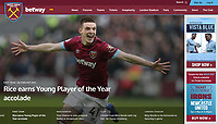 West Ham United Website - 28-Feb-2019 - 'Rice earns Young Player of the Year accolade' - Photo by Rob Newell (Camerasport via Getty Images)