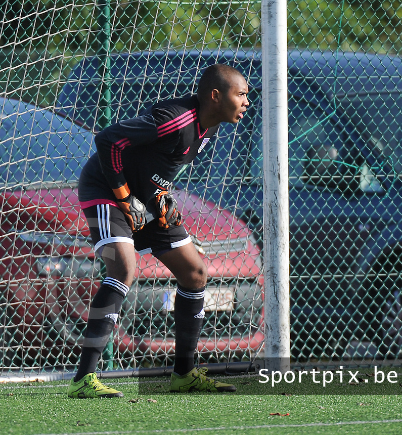 20151031 - KORTRIJK , BELGIUM : Anderlecht 's Enzo D'Alberto pictured during the Under 19 ELITE soccer match between KV Kortrijk and RSC Anderlecht U19 , on the thirteenth matchday in the -19 Elite competition. Saturday 31 October 2015. PHOTO DAVID CATRY