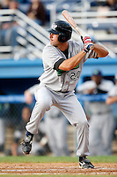 July 3, 2009:  Erik Kanaby of the Jamestown Jammers at bat during a game at Dwyer Stadium in Batavia, NY.  The Jammers are the NY-Penn League Short-Season Class-A affiliate of the Florida Marlins.  Photo by:  Mike Janes/Four Seam Images