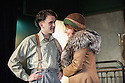 "London, UK. 05.09.2012. I AM A CAMERA, by John Van Druten, opens at Southwark Playhouse. Based on Christopher Isherwood's memoirs ""Goodbye to Berlin"" and the inspiration for the musical Cabaret. Photo shows: Sherry Baines (Mrs Watson-Courtneidge) and Harry Melling (Christopher Isherwood). Photo credit: Jane Hobson"