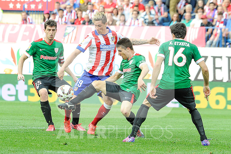Atletico de Madrid´s  and Athletic Club´s  during 2014-15 La Liga match between Atletico de Madrid and Athletic Club at Vicente Calderon stadium in Madrid, Spain. May 02, 2015. (ALTERPHOTOS/Luis Fernandez)