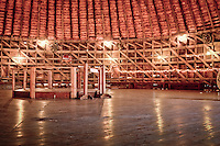 The second floor of the Round Barn served as a comunity center for dances and other events.  <br /> <br /> The Round Barn in Arcadia Oklahoma was built by William Oder in 1998 and served as a home for cattle.  The barn is 60' in diameter and 45' tall.  The barn's  second  story was also used as a place for dances for the locals.  The barn has  become one of the best known Route 66 landmarks in the country and was placed on the National Register of Historic Places in 1977.  In 1998 the barns roof collapsed and Knowing it would be no small feat, Luther &quot;Luke&quot; Robison (a retired building contractor) had long admired the Round Barn and decided that he would save it from utter ruin. He and the Over the Hill Gang, (a group of retirees) volunteered their time, money and skill to the task. The barn is now completely restored and open to the public.
