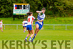 Lorraine Scanlon Castleisland Desmonds is stopped in her tracks by Cassandra Buckley Rathmore/Spa during the Ladies County Championship final in Cordal on Saturday