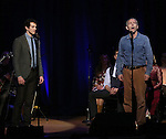 A.J. Shively and Stephen Bogardus  on stage during 'Bright Star' In Concert at Town Hall on December 12, 2016 in New York City.