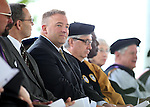 Sean Davidson listens to the Western Nevada College commencement at the Pony Express Pavilion, in Carson City, Nev., on Monday, May 19, 2014. <br /> Photo by Cathleen Allison/Nevada Photo Source
