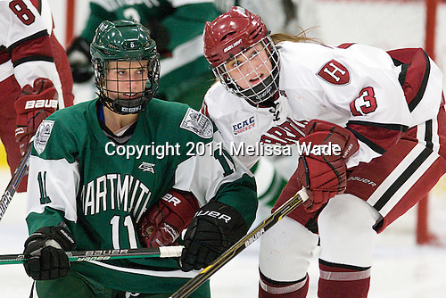 Morgan Illikainen (Dartmouth - 11), Kalley Armstrong (Harvard - 13) - The visiting Dartmouth College Big Green defeated the Harvard University Crimson 3-2 on Wednesday, November 23, 2011, at Bright Hockey Center in Cambridge, Massachusetts.
