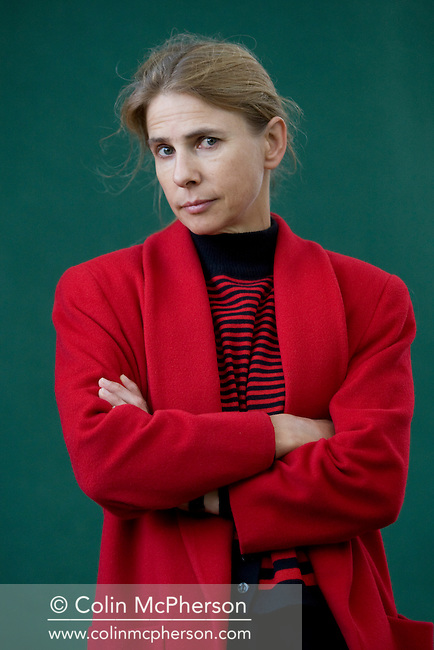 Orange prize-winning British writer Lionel Shriver, pictured at the Edinburgh International Book Festival where she talked about her book entitled We Need To Talk About Kevin. The Book Festival was the World's largest literary event and featured writers from around the world. The 2007 event featured around 550 writers and ran from 11-27 August.