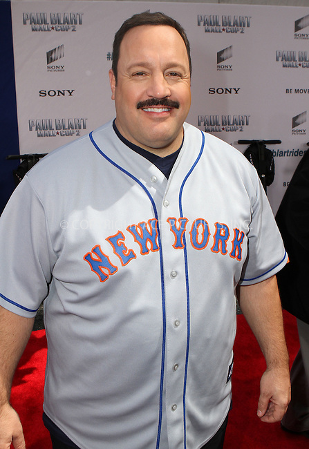 WWW.ACEPIXS.COM<br /> <br /> April 11 2015, New York City<br /> <br /> Actor Kevin James arriving at the 'Paul Blart: Mall Cop 2' New York Premiere at AMC Loews Lincoln Square on April 11, 2015 in New York City.<br /> <br /> By Line: Nancy Rivera/ACE Pictures<br /> <br /> <br /> ACE Pictures, Inc.<br /> tel: 646 769 0430<br /> Email: info@acepixs.com<br /> www.acepixs.com
