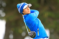 Azahara Munoz (EUR) on the 2nd tee during Day 3 Singles at the Solheim Cup 2019, Gleneagles Golf CLub, Auchterarder, Perthshire, Scotland. 15/09/2019.<br /> Picture Thos Caffrey / Golffile.ie<br /> <br /> All photo usage must carry mandatory copyright credit (© Golffile | Thos Caffrey)