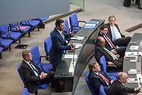 Sitzung des Deutschen Bundestag am Donnerstag den 19. April 2018.<br /> Im Bild: Jan  Ralf Nolte, Abgeordneter der rechtsnationalistischen &quot;Alternative fuer Deutschland&quot;, AfD, nimmt Stellung zu den Vorhaltungen aus dem Plenum, er wuerde einen Rechtsextremisten als Angestellten beschaeftigten, der Aufgrund seiner rechtsextremen Umtriebe keine Sicherheitsfreigabe des Deutschen Bundestag und somit auch keine Zugangsberechtigung zum Bundestag bekommen hat.<br /> 19.1.2018, Berlin<br /> Copyright: Christian-Ditsch.de<br /> [Inhaltsveraendernde Manipulation des Fotos nur nach ausdruecklicher Genehmigung des Fotografen. Vereinbarungen ueber Abtretung von Persoenlichkeitsrechten/Model Release der abgebildeten Person/Personen liegen nicht vor. NO MODEL RELEASE! Nur fuer Redaktionelle Zwecke. Don't publish without copyright Christian-Ditsch.de, Veroeffentlichung nur mit Fotografennennung, sowie gegen Honorar, MwSt. und Beleg. Konto: I N G - D i B a, IBAN DE58500105175400192269, BIC INGDDEFFXXX, Kontakt: post@christian-ditsch.de<br /> Bei der Bearbeitung der Dateiinformationen darf die Urheberkennzeichnung in den EXIF- und  IPTC-Daten nicht entfernt werden, diese sind in digitalen Medien nach &sect;95c UrhG rechtlich geschuetzt. Der Urhebervermerk wird gemaess &sect;13 UrhG verlangt.]