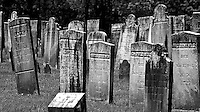 Headstones in an old cemetary near Kent, CT, May 2009. (Photo by Brian Cleary/www.bcpix.com)