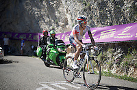 Jarlinson Pantano (COL/IAM) up the Lacets du Grand Colombier (Cat1/891m/8.4km/7.6%)<br /> <br /> stage 15: Bourg-en-Bresse to Culoz (160km)<br /> 103rd Tour de France 2016