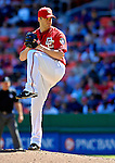 16 September 2007: Washington Nationals pitcher Shawn Hill on the mound against the Atlanta Braves at Robert F. Kennedy Memorial Stadium in Washington, DC. The Braves shut out the Nationals 3-0 in the third game of their 3-game series...Mandatory Photo Credit: Ed Wolfstein Photo
