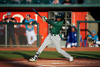 Beloit Snappers Marcos Brito (6) at bat during a Midwest League game against the Lansing Lugnuts at Cooley Law School Stadium on May 4, 2019 in Lansing, Michigan. Beloit defeated Lansing 2-1. (Zachary Lucy/Four Seam Images)