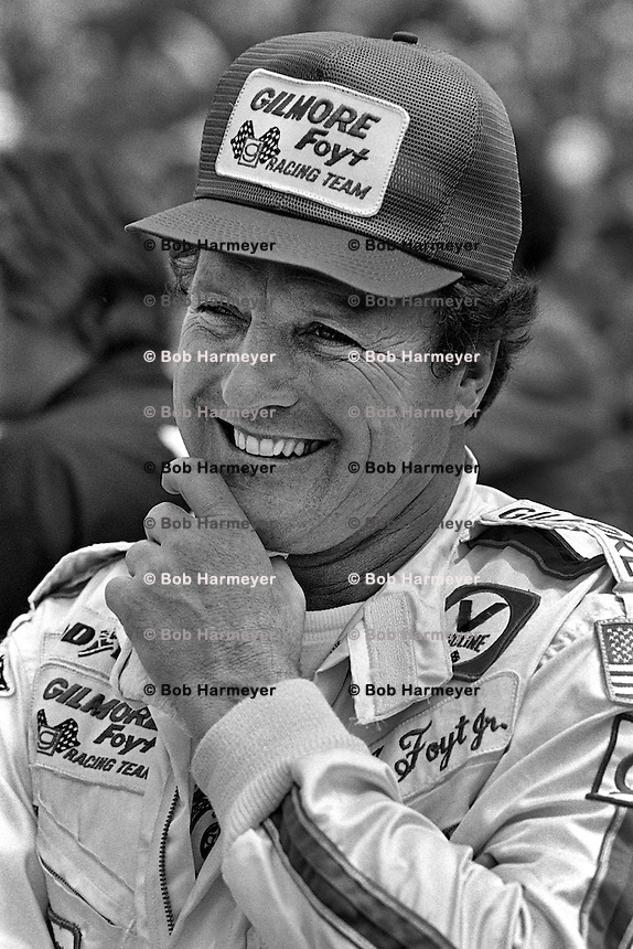 INDIANAPOLIS, IN - MAY 28: AJ Foyt waits to drive during practice for the Indy 500 at the Indianapolis Motor Speedway in Indianapolis, Indiana, on May 28, 1978.