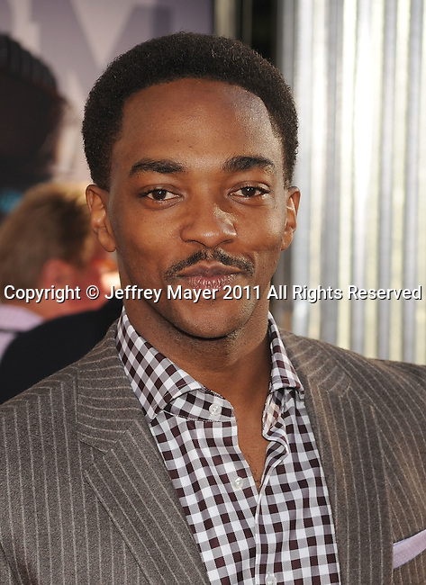 """UNIVERSAL CITY, CA - OCTOBER 02: Anthony Mackie attends the """"Real Steel"""" Los Angeles Premiere at Gibson Amphitheatre on October 2, 2011 in Universal City, California."""