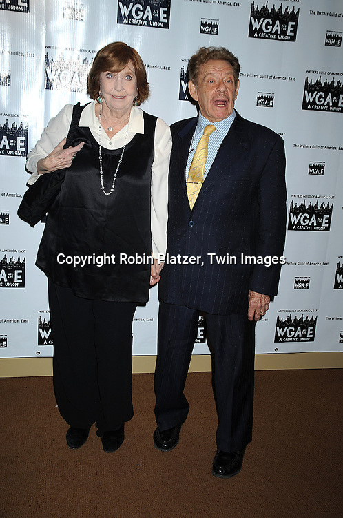Anne Meara and husband Jerry Stiller..attending The 61st Annual Writer's Guild Awards on February 7, 2009 at The Hudson Theatre at The Millennium Broadway Hotel in New York City.....Robin Platzer, Twin Images