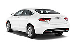 Rear three quarter view of 2015 Chrysler 200 Limited 4 Door Sedan 2WD Angular Rear Stock Photo