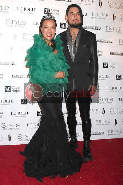 Sue Wong, Dave Navarro<br /> at Sue Wong's 'Fairies and Sirens' Fashion Show at L.A. Fashion Week. The Reef, Los Angeles, CA 10-15-14<br /> David Edwards/Dailyceleb.com 818-249-4998