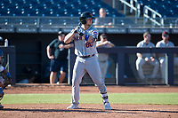 Scottsdale Scorpions designated hitter David Thompson (88), of the New York Mets organization, at bat during a game against the Peoria Javelinas on October 19, 2017 at Peoria Stadium in Peoria, Arizona. The Scorpions defeated the Javelinas 13-7.  (Zachary Lucy/Four Seam Images)